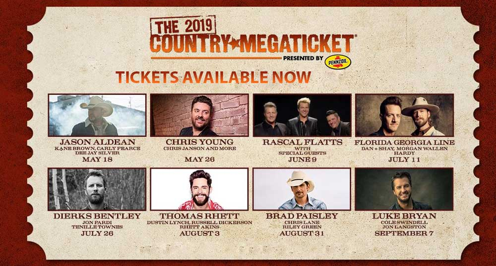 Country Megaticket - PNC Bank Arts Center